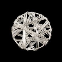 Metal Wire Mesh Pendant Bead Beading Round Circle Coin - 31MM Silver - 1... - $2.99