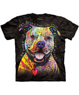 The Mountain Graphic Tee Beware Of Pitbulls  Adult T-shirt Size S, M, L, XL - $21.25