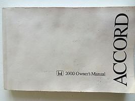 2000 Honda ACCORD Car Owner's Manual - $4.99