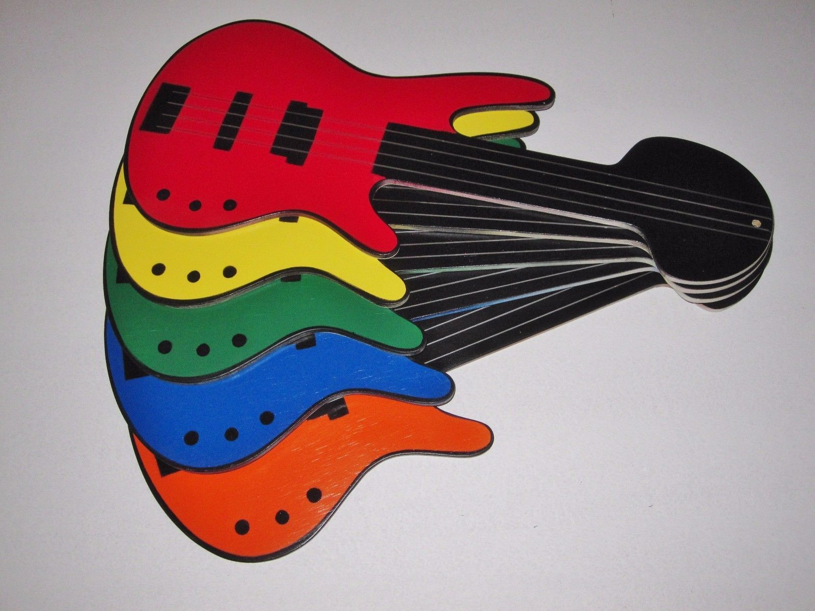 Colorful bass guitar shaped replacement and 27 similar items colorful bass guitar shaped replacement ceiling fan blades aloadofball Choice Image