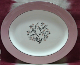 Vintage Homer Laughlin Pink Springtime Large Oval Serving Platter - $10.00