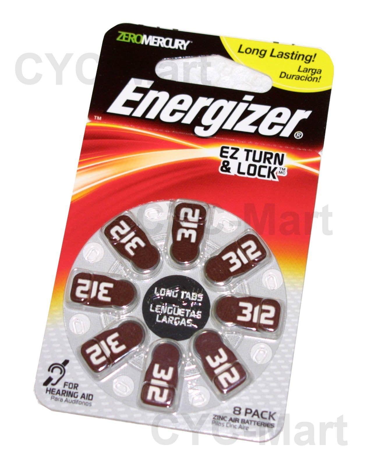 8pcs Energizer Hearing Aid Battery Az312 And 50 Similar Items E92 Aaa Bp 4 Pr41 Made In Germany