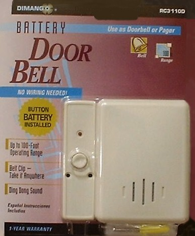 Portable Doorbell (Wireless) battery power
