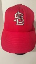 Vintage St Louis Cardinals RED BASEBALL MLB SNAPBACK TRUCKER CARDS HAT CAP - $18.80