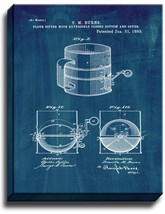 Flour Sifter Patent Print Midnight Blue on Canvas - $39.95+