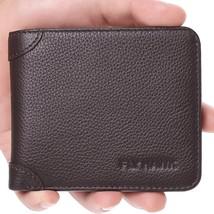 Italian Cowhide Men's RFID Blocking Genuine Leather Bifold Wallet, Mini- - $24.54