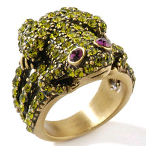 Heidi Daus Frog Crystal Ring different sizes 7, 11, 12 - $54.95