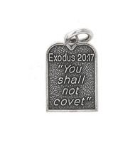 STERLING SILVER EXODUS 20:17 TEN COMMANDMENT CHARM or PENDANT - £7.55 GBP