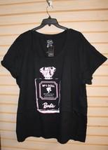 New Torrid Womens Plus Size 5 X 5 Barbie Perfume Bottle Scoop Neck Tee Shirt Top - $25.15