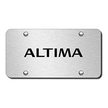 Nissan Altima on Brushed Stainless Steel Licens... - $57.75