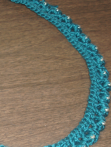 Necklace Blue Silver Beads  free shipping - $20.00