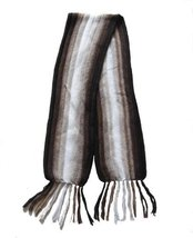 "Alpakaandmore Unisex Alpaca Wool Scarf, Shawl Stripes 63""x 4.72"" (Brown) - ₨1,760.03 INR"