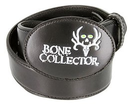 Bone Collector Leather Covered Buckle Casual Leather Belt (Black, 38) - $24.74