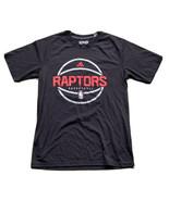 Adidas Toronto Raptors Basketball Men's S/S T-Shirt Size Medium Black NBA  - $17.82