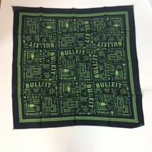 "Bulleit Frontier Whiskey Kentucky Handkerchief Bandana 21.5"" Square Blac... - $7.69"