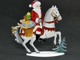 """ARTIST WILHELM SCHWEIZER GERMAN ZINNFIGUREN Santa on Horse (4.75""""x 4.5"""") - $130.00"""
