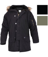 Vintage Military N-3B Parka Cold Weather Snorkel Air Force Hooded Cotton... - $113.99+