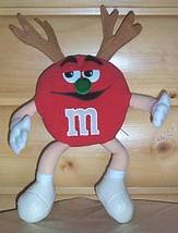 M & M's Red Candy Plush Green Nose Reindeer with Antlers - $8.79