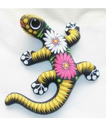 "Ceramic Clay Lizard Salamander Figurine Hand-painted Mexican Wall Art 6"" L6 - $16.82"