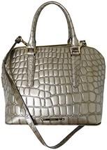 Brahmin Vivan Croc Embossed Leather Taupe Satchel / Crossbody - $276.21