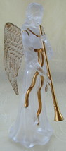 Angel, Frosted Plastic w/Gold Trim, Table Top o... - $12.00