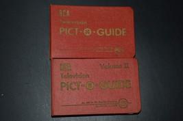 Vintage Rca Tv Pict Guide Vol 1,2 - $18.32