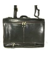 Santa Fe Dilana Vintage Dark Brown Leather Briefcase Laptop Bag – Distre... - $95.05