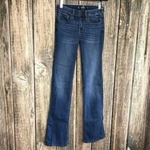 """Hollister Sz 1R Bootcut Denim Jeans ~ Blue ~ Low Rise ~ 32"""" Inseam - $24.74"""