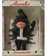 Annalee Green  Elf Felt Doll Christmas Ornament - $12.99