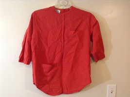 Annette Gallin For Rue Ladies Red 3/4 Sleeve Blouse Sz 9/10