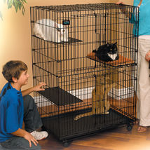 Large Folding Cage Collapsible Pet Cat Wire Cage Indoor Outdoor Pen Por... - $132.92