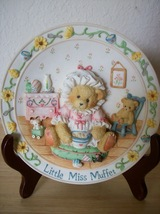 1995 Cherished Teddies Little Miss Muffet Nursery Plate  - $22.00