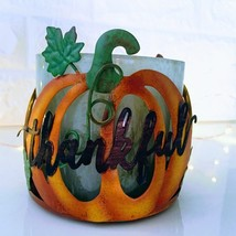 Thankful Pumpkin: 3-Wick *Bath & Body Works* Thanksgiving Candle Holder - $24.70