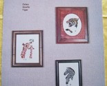 Wildlife Sampler I Cross Stitch Patterns Zebra Giraffe Tiger - $5.00