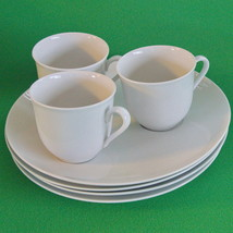 Vintage Schumann Arzberg (Bavaria/Germany) Snack Plates (4) and Cups (3) - $14.95