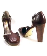 NEW JUICY COUTURE WOMENS Patti Heels 8.5 Brown ... - $89.99