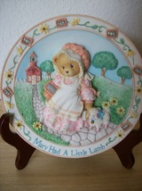 1994 Cherished Teddies Mary Had A Little Lamb Nursery Plate - $22.00