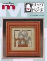CLEARANCE M Mitten Alphabet Mania Heart in Hand mini cross stitch chart - $1.50