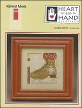 CLEARANCE I Ice Skate Alphabet Mania Heart in Hand mini cross stitch chart - $1.50