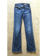 Chip and Pepper Girls Blue Denim Jeans Size 10 • CP Stitch Back Pockets - $14.80
