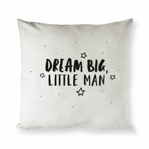 Dream Big Little Man Baby Cotton Canvas Pillow Cover - $23.76