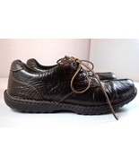 BOC Shoes Dark Brown Crinkle Leather Lace Up Size 10.5 / 42 - $44.46