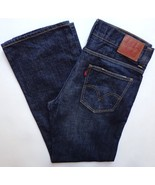 Mens Levis Low Loose 549 Jeans 37 x 34 Distressed Dark Denim - $34.95