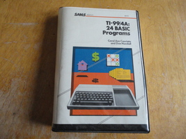 TEXAS INSTRUMENTS TI 99/4A '24 BASIC Programs' book and cassette tape so... - $7.99