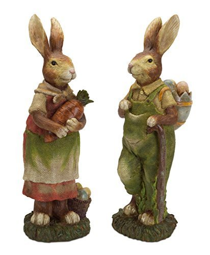 Easter Bunny Couple Working in the Garden Set of 2 [Kitchen]