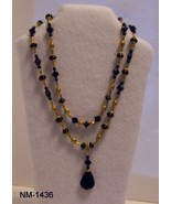NM-1436 - Cobalt Blue Glass Beads Separated by ... - $26.73