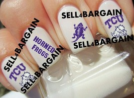 TEXAS CHRISTIAN TCU HORNED FROGS COLLEGIATE》Tattoo Nail Art Decals《NON-T... - $16.99
