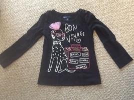 GAP Kid's Girl's Black/Pink Long Sleeve Top Size XS 4/5 - $4.00