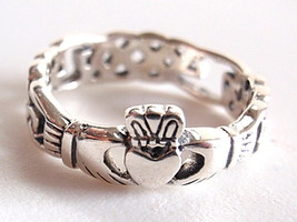 Irish Claddagh Celtic Ring 925 Sterling Silver ... - $13.49