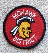 Mohawk District Native American Indian Head red sew on patch - Boy Scout... - $4.84